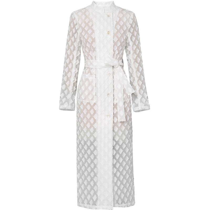 Высококачественное дизайнерское платье для подиума, женское осенне зимнее Элегантное Белое Женское офисное платье, винтажное платье миди ... - 2