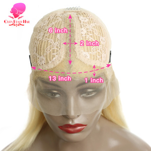 Image 4 - Queen 13x1 613 Blonde Brazilian Straight Human Hair Bob Wigs 6   16 Inch Remy Short Ombre Bob Lace Front Wigs for Black Women