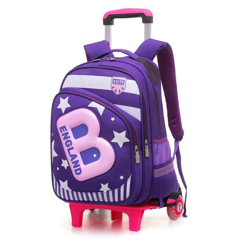 Brand child can climb stairs luggage Lovely cartoon boy school bag students suitcase Children travel backpack girl Pencil case