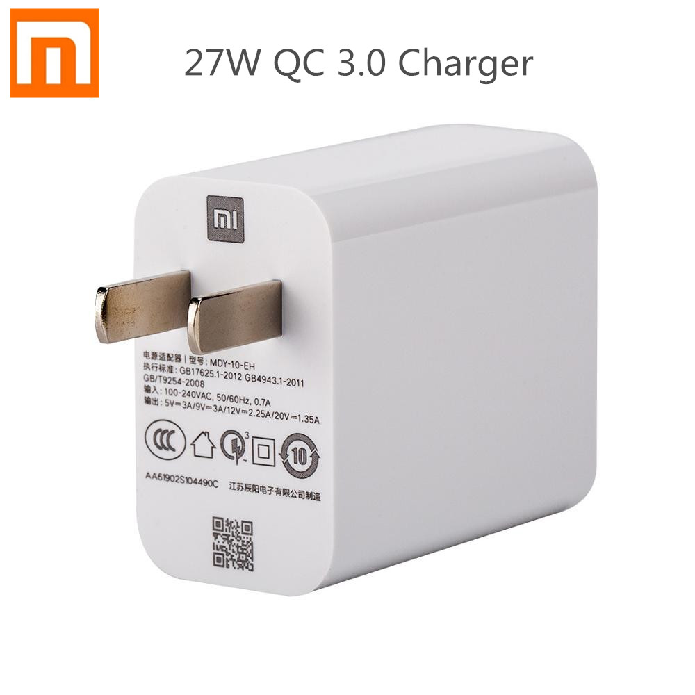 Original Xiaomi <font><b>27W</b></font> <font><b>Charger</b></font> Fast Charging Power Adapter For <font><b>Mi</b></font> 9 Redmi K20 Pro QC 3.0 Charge Adapter image