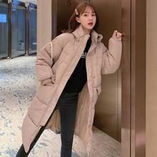 Hooded Ladies Coat Long Coats Parka oversize Colour jacket mid-long women winter thick jacket down jacket women winter