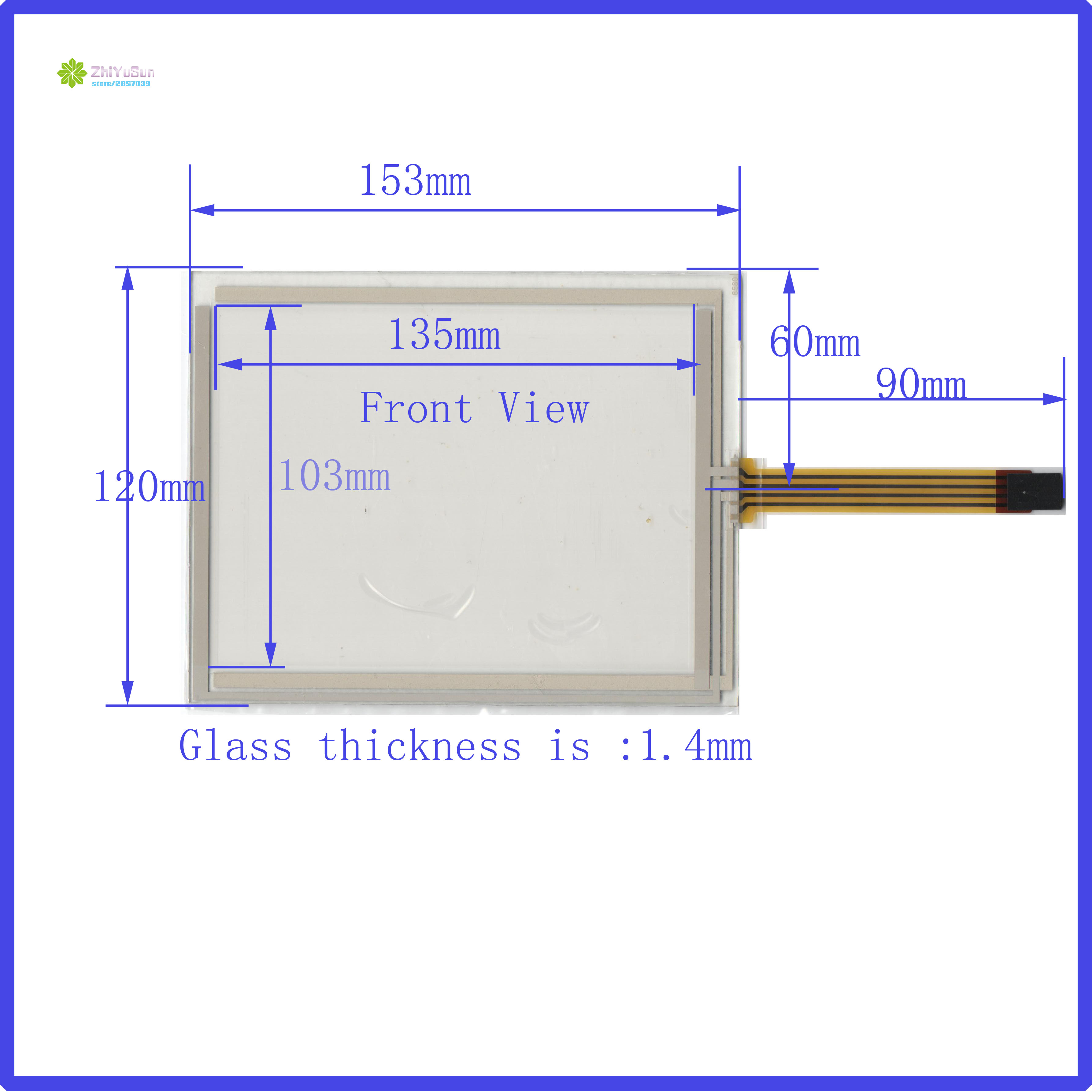 ZhiYuSun Wholesale 6580 6.5 Inch 4lines 153*120mm Resistance Screen For Car  DVD Redio This Is Compatible 153*120MM