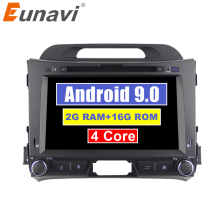 Eunavi 2 din Android 9.0 car dvd Multimedia player for KIA sportage 2011 2012 2013 2014 2015 2din radio gps navigation headunit