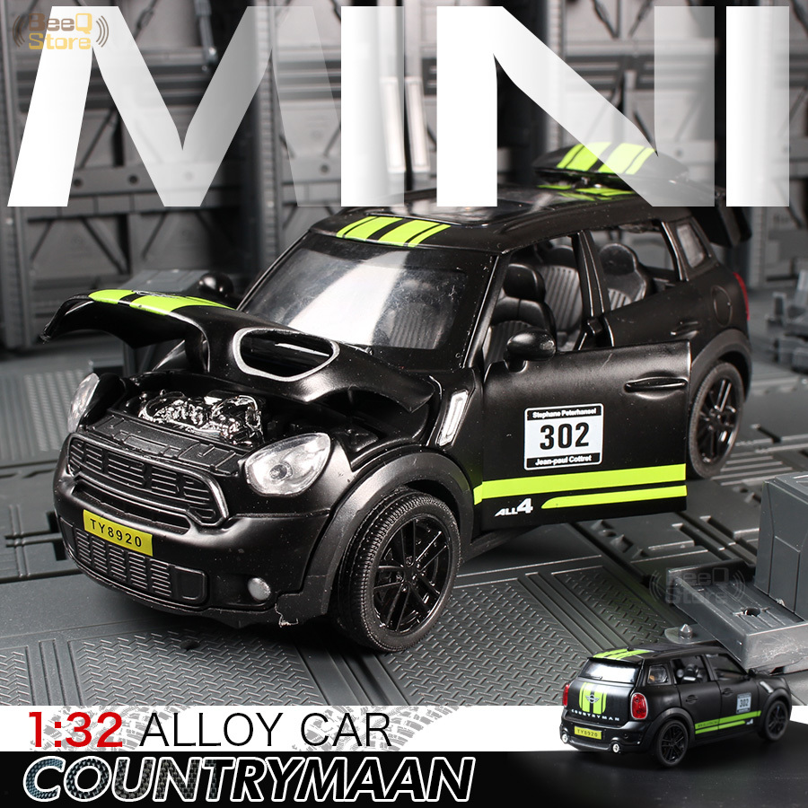 1:32 Toy Car Mini Countryman Diecast Alloy Metal Car Model For MINI Coopers Model Pull Back Car Toy Vehicles Miniature Scale