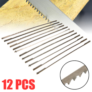"""Image 1 - 12pcs 5"""" 10/15/18/24 Teeth Pinned Scroll Saw Blades Woodworking Saw Blades Power Tools Accessories"""