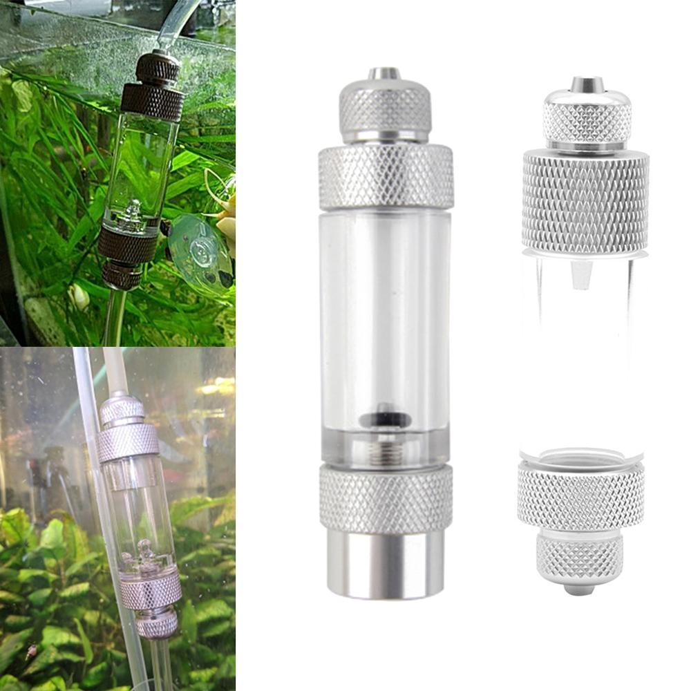 Single/Double Head Aquarium CO2 Bubble Counter Aluminum Alloy Non-return CO2 Regulator Carbon Dioxide Measurement Device