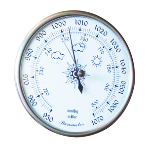 Image 2 - 128 мм 950 ~ 1070 hpa настенный бытовой термометр, гигрометр, тестер погоды воздуха, прибор, барометры