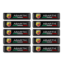 цена на 10pcs/set Car-styling Accessories Italy Abarth Scorpion Badge Steering wheel Epoxy sticker For Fiat Viaggio Abarth Punto 124 125