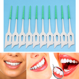 20/200PCS Dental Floss Interdental Brush Teeth Stick Dental Flosser Toothpick Silicone Floss Pick Oral Hygiene Tooth Cleaning
