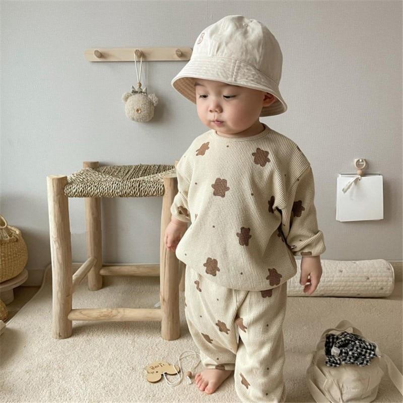 1267.0¥ 61% OFF|Autumn Infant Baby Cartoon Clothing Sets Toddler Boys Girls Long Sleeve Sweatshirt ...