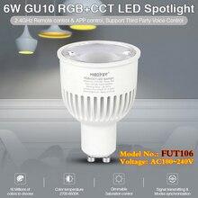 New 6W GU10 RGB+CCT indoor smart LED Spotlight AC100~240V Color Temp 2700K~6500K can remote/Alexa/Google Assistant voice control
