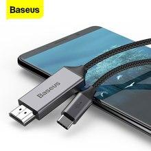 Baseus USB C kabel HDMI typ C do HDMI Thunderbolt 3 konwerter zasilacz do MacBook iPad type c USB C do 4K przewód HDMI