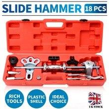 Slide Hammer Puller Set Wheel Bearing Removal Tool Wrench Adapter Axle Hub Auto Set Internal/External Puller Tool Kit cycle bearing extract puller set for wheels hub bearing remove