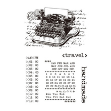 CLEAR STAMPS Retro Typewriter Transparent New 2019 Stamp Silicone Seal for DIY Scrapbooking Card Making Photo Album Decor Crafts 4 6inches animals clear stamps seal for diy scrapbooking album crafts decor cards transparent stempels silicone stamp 2019 new