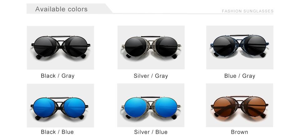 Hf0298a63a1684969b9a932e81fad647eT Genuine GIFTINGER Retro Round Steampunk Sunglasses Men Retro Women Sun Glasses Shades Vintage Travel Eyewear Gafas De Sol 7550