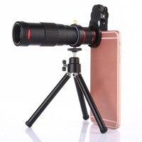 22 시간 휴대 전화 긴 망원 렌즈 울트라 맑은 사진 촬영 사진 야외 쌍안경 삼각대와 외부 휴대 전화