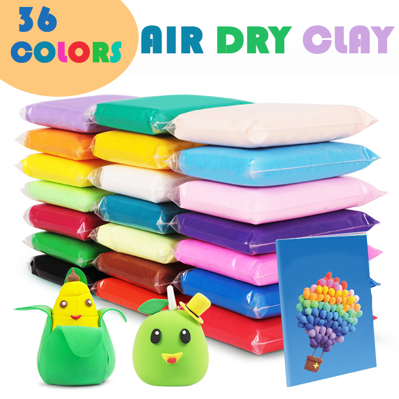 36 Colors Fluffy Slime Toys Magic Soft Clay Antistress Air Dry Clay For Kids Educational Plasticine Polymer Playdough  Slime Kit
