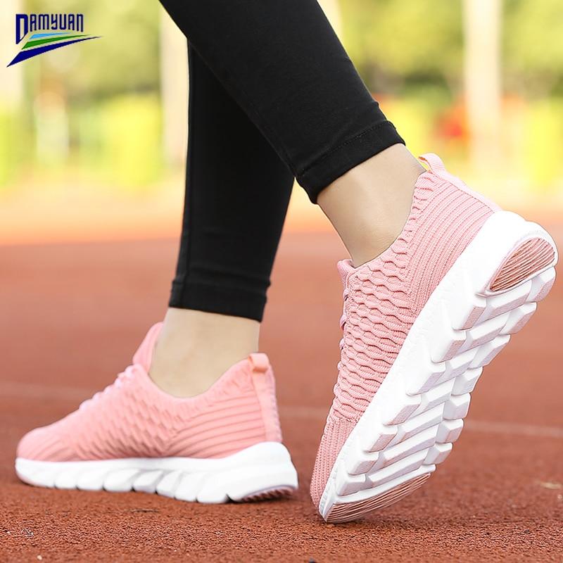Купить кроссовки damyuan женские на плоской подошве дышащие сетчатые