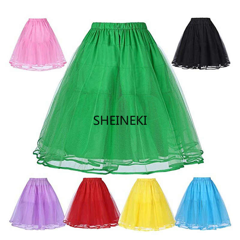 Rockabilly Summer ladies solid color tulle skirt petticoat slim sexy skirt ballet skirt  party club skirt organza size 32 to 58