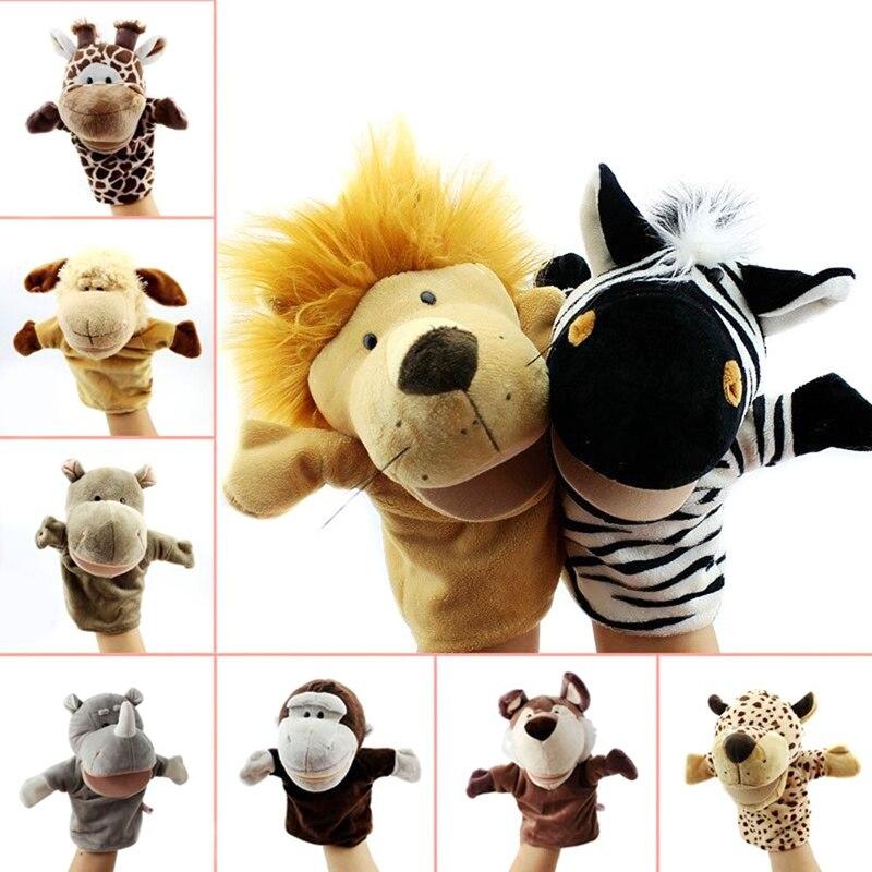 Cartoon Animal Hand Puppet Toys Classical Kawaii Children Hand Puppet Novelty Cute Dog Giraffe Monkey Lion Muppet Kids