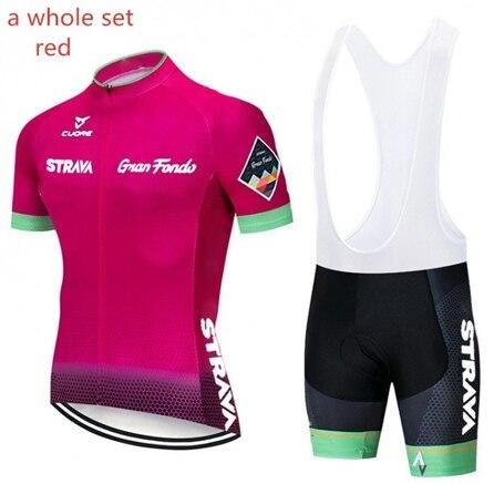 2019 nova m equipe de mangas curtas respirável ciclismo jerseys bib conjunto secagem rápida roupas bicicleta ropa maillot ciclismo com 9d gel 3