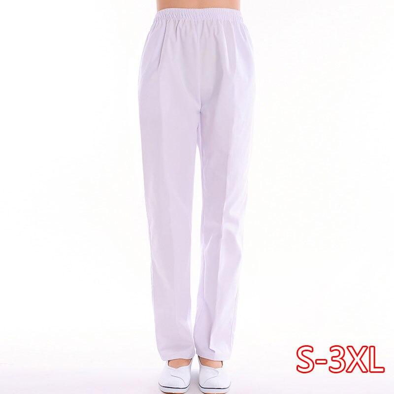 Women Men Scrub Pants Pure Cotton Medical Uniforms Doctor Nurse Workwear Scrub Bottoms Solid Color Surgical Trousers