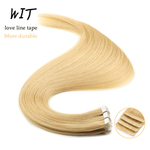 Hair Human-Hair-Extensions Skin-Weft-Tape Tape-In Remy Double-Drawn Natural Invisible