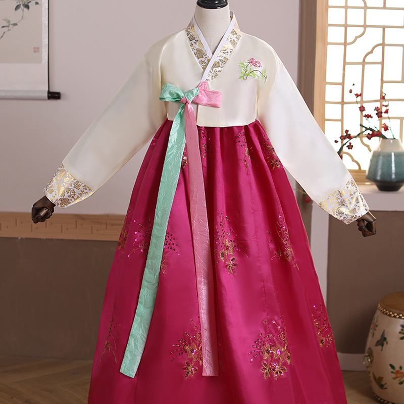 Korean Traditional Costumes  Ladies' Hanbok Women's Korean Ethnic Dance Big Skirts and Stage Costumes
