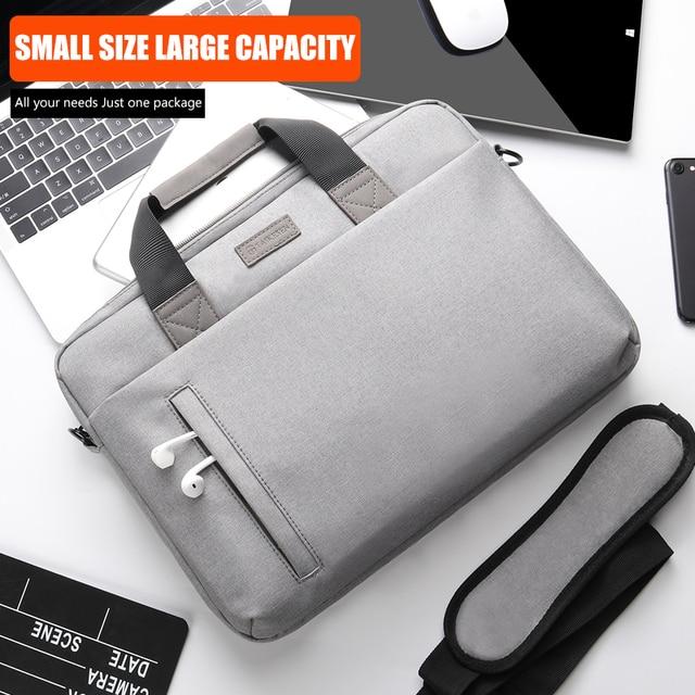 Laptop Bag case 13.3 14 15.6 17.3 Inch Waterproof Notebook Bag for Macbook Air Pro 13 15 Computer Shoulder Handbag Briefcase Bag 2