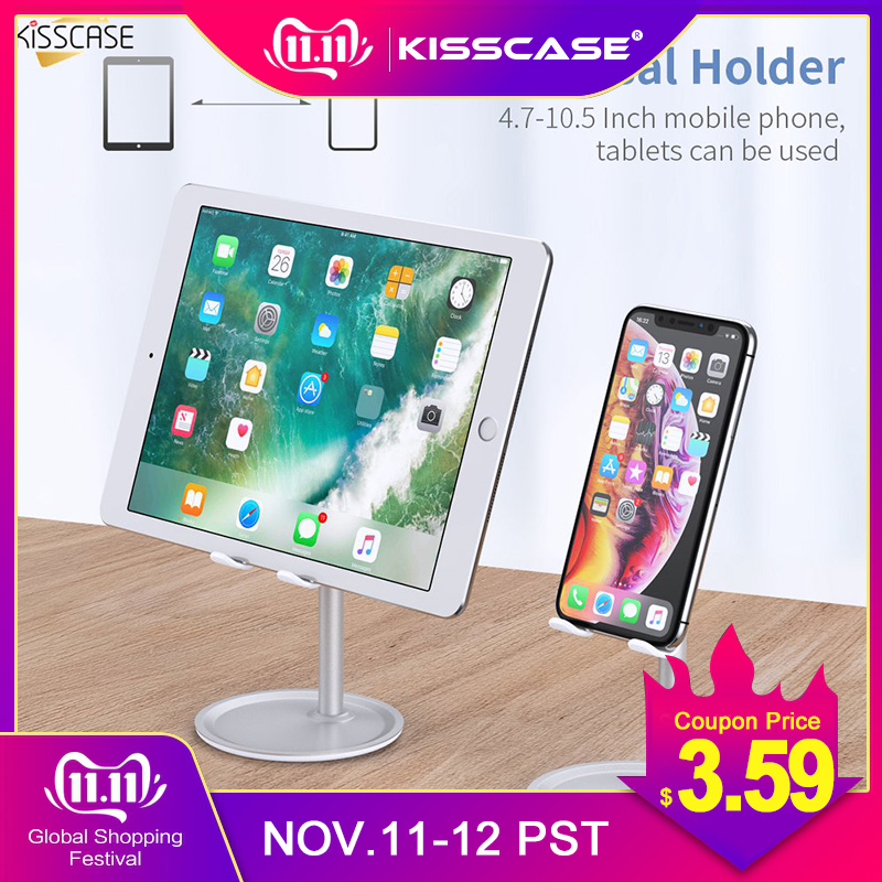 KISSCASE Phone Holder For Samsung IPhone IPad Universal Adjustable Desktop Tablet Phone Holder Desk Phone Holder Stand Support