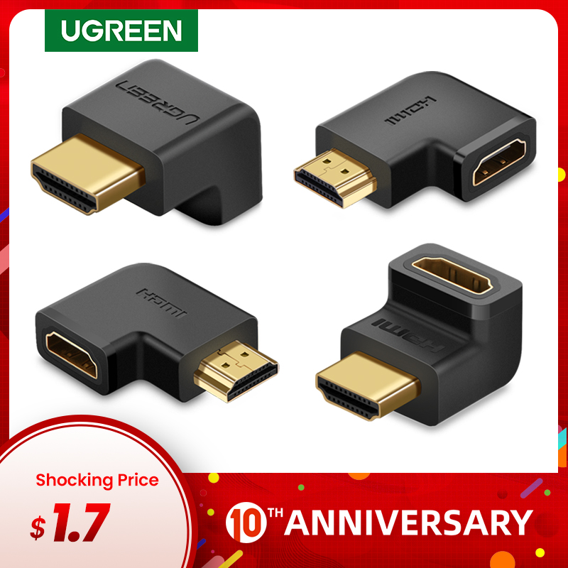 Ugreen HDMI Adapter 270 90 Degree Right Angle Male to Female Cable Converter 4K HDMI Extender for PS4 HDTV HDMI Connector