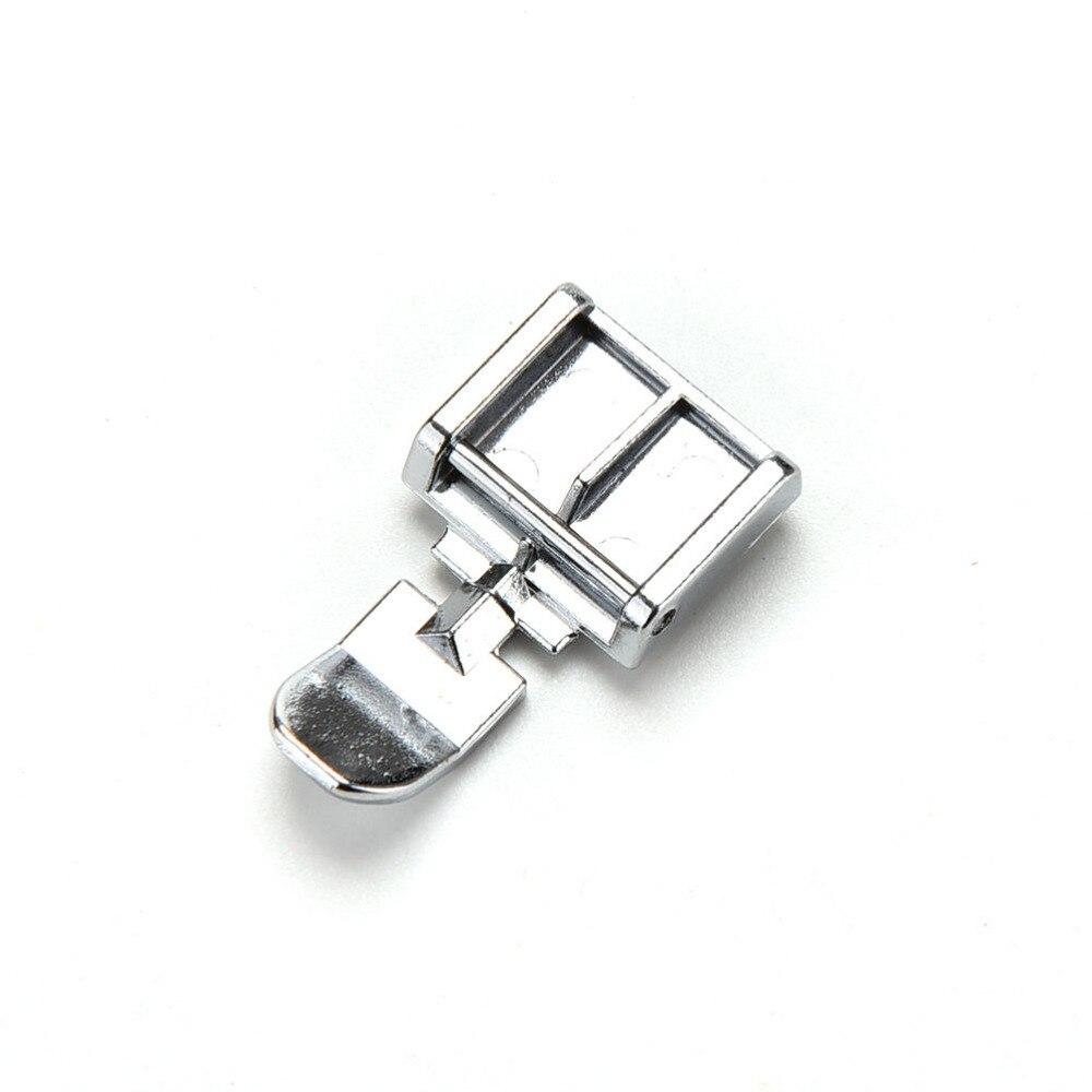 Высокое качество 2 стороны металлическая молния прижимная лапка для оснастки швейная машина Brother Singer Janome Швейные аксессуары