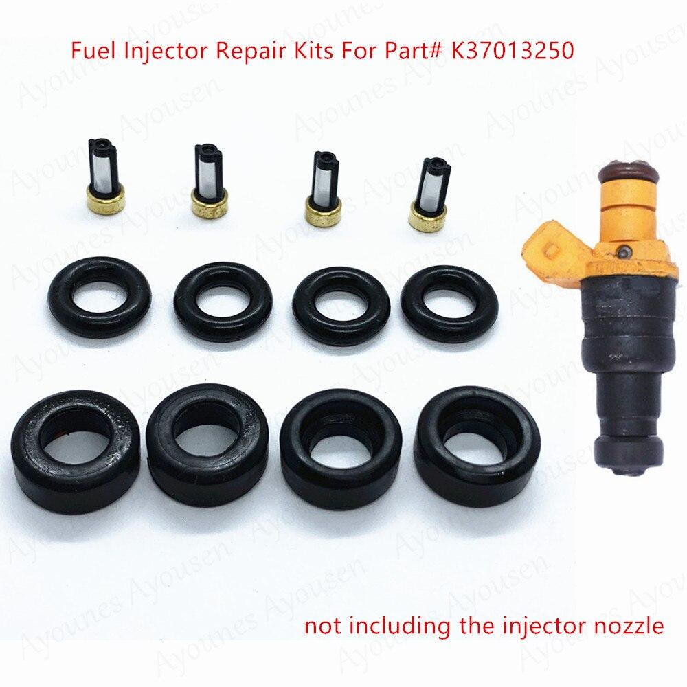 الجملة 4 مجموعات حاقن وقود إصلاح أطقم للجزء # K37013250 لكيا برايد 1999 Avella 96-99 K370-13-250 جودة عالية (AY-RK340)