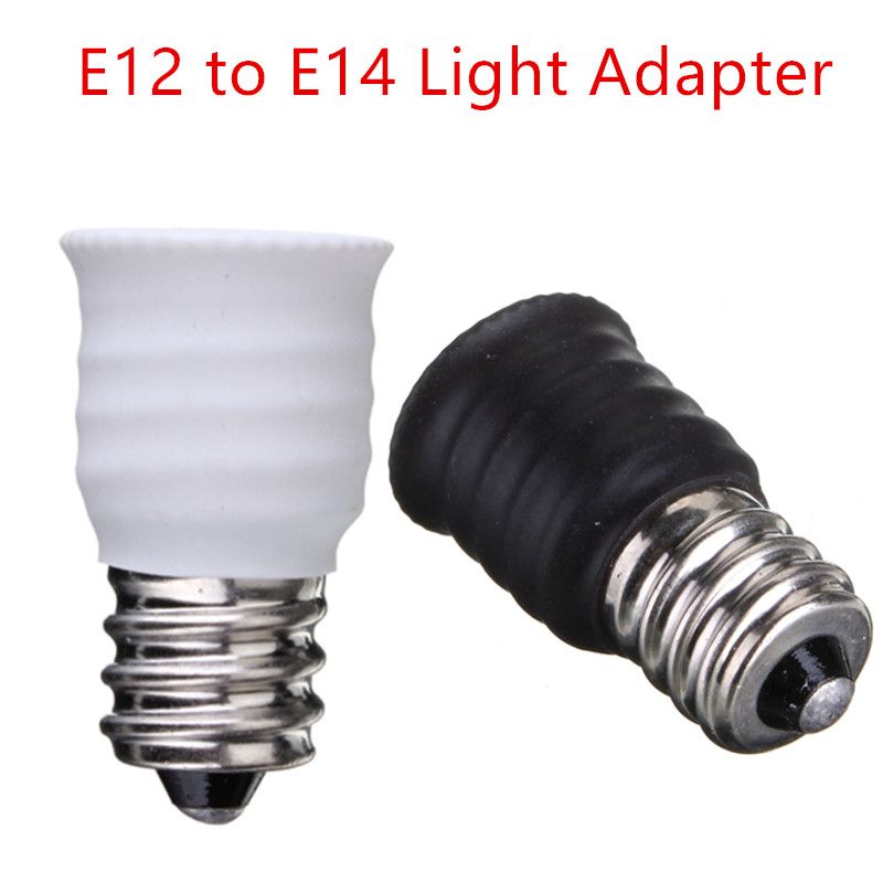 <font><b>E12</b></font> To E14 Smaller <font><b>Socket</b></font> Base LED Bulb Lamp Light Adapter Converter Holder LED Lights <font><b>E12</b></font>-E14 Lamps Adapter image