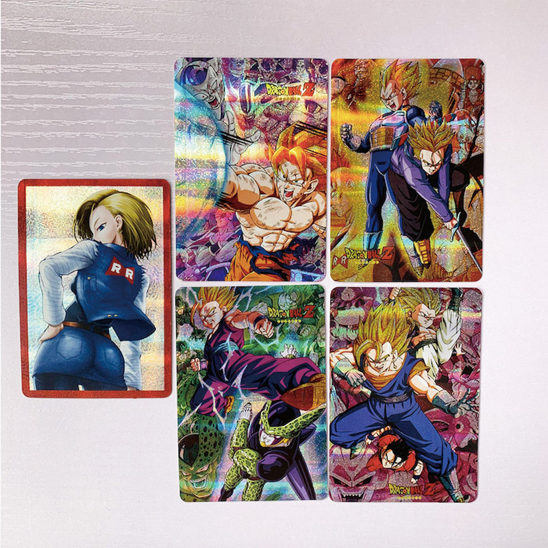 5pcs/set Dragon Ball Z Super Saiyan Goku Vegeta Game Figures Commemorative Edition Collection Cards Free Shipping
