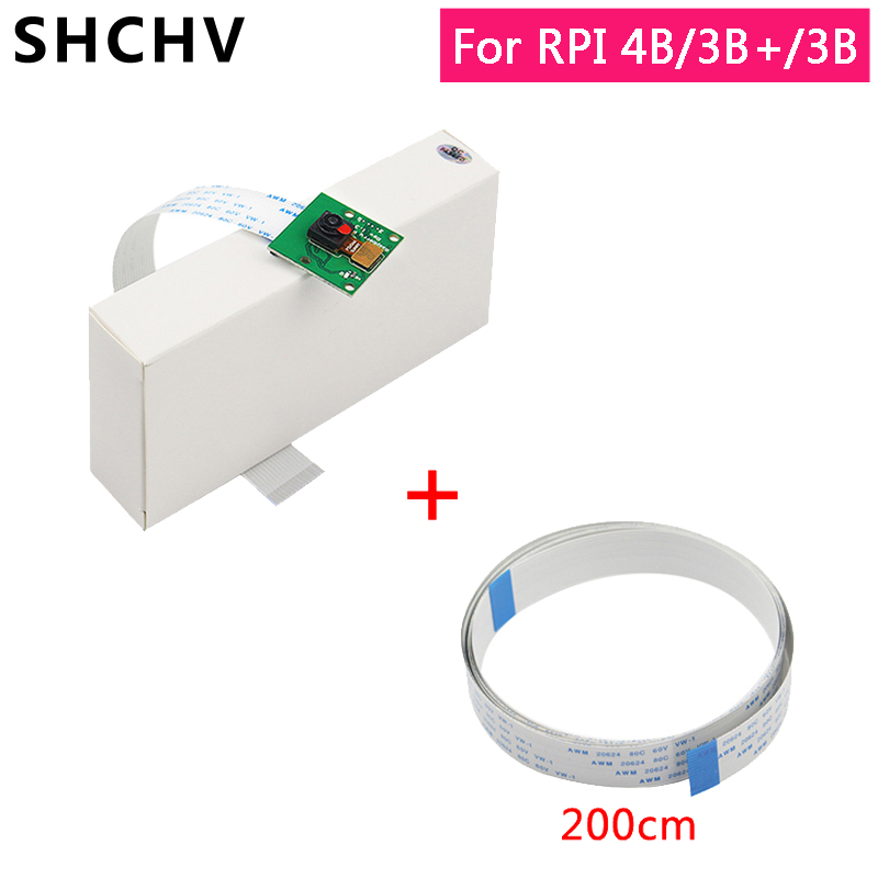 Raspberry Pi 4 Camera Module 5MP Webcam 1080P 720P Mini Camera With 30/50/100/200CM FFC Cable For Raspberry Pi 3 Model B 3B Plus