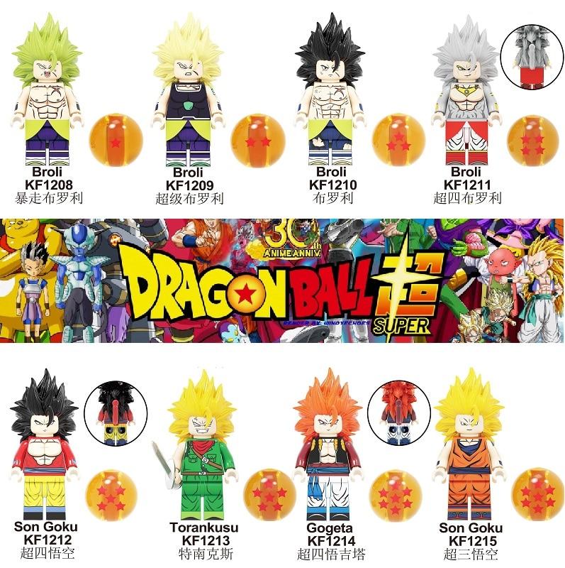 Single Sale Building Blocks Dragon Ball Figures Broli Son Goku Torankusu Gogeta Trunks Janemba Vegeta For Kids Gift Toys KF6098