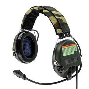 Image 5 - سماعات أذن إلكترونية تكتيكية لاقط للحد من الضوضاء سماعات رأس لاسلكية تكتيكية تكتيكية لسماعات الرأس طراز FG