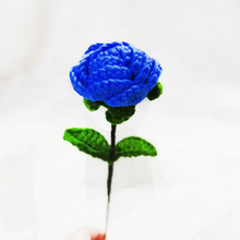 Finished Crochet Hooks Handmade Flower Knitting Flower Diy Simulation Wool Rose Three-dimensional Hand-woven Bouquet Gift