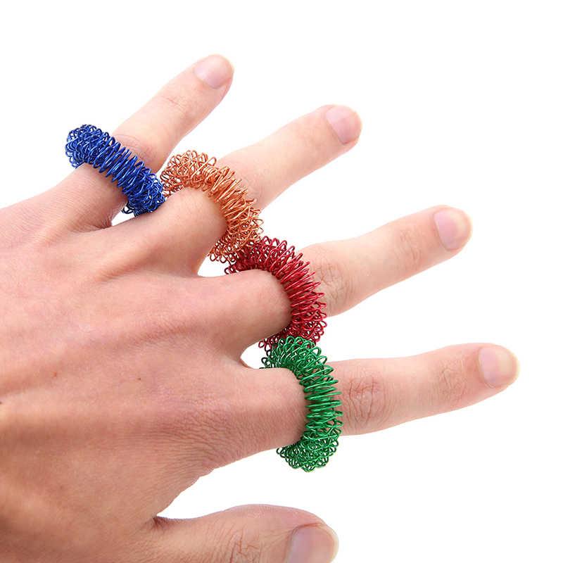 2020 Finger Massage Ring Akupunktur Ring Gesundheit Pflege Durchblutung Therapie Ring Schmerzen Relief Körper Entspannen Werkzeug 1pc