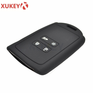 Image 4 - Silicone Car Key Case For Renault Megane Koleos Kadjar Clio Captur kwid for Dacia Logan Duster 2018 2019 2020 Cover Remote Fob