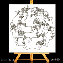 ZhuoAng Cute unicorn Clear Stamps/Card Making Holiday decorations For  scrapbooking Transparent stamps 13*13cm