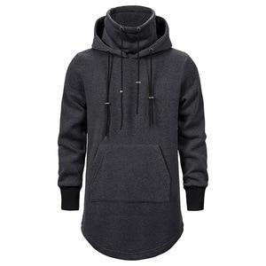 Image 5 - Assassins Creed Männer Diablo Nahen Lange Hut Lose Mantel Doppel Kordelzug Tasche Hoodie Männer Sweatshirts Männer Off White