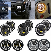7 Inch 40W 60W 90W LED Headlight Super Bright LED Light Head Lamp For Jeep Wrangler JK TJ CJ Built In EMC For Anti Glare