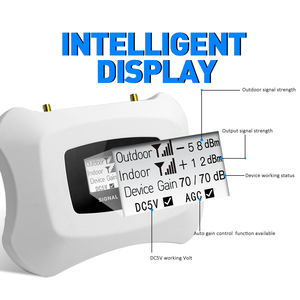 Image 2 - 미국 3G 4g를위한 가득 차있는 똑똑한 3G 4g 반복기 이동할 수있는 신호 승압기는 yagi 및 천장 안테나 장비를 가진 셀룰라 전화 증폭기를 사용한다