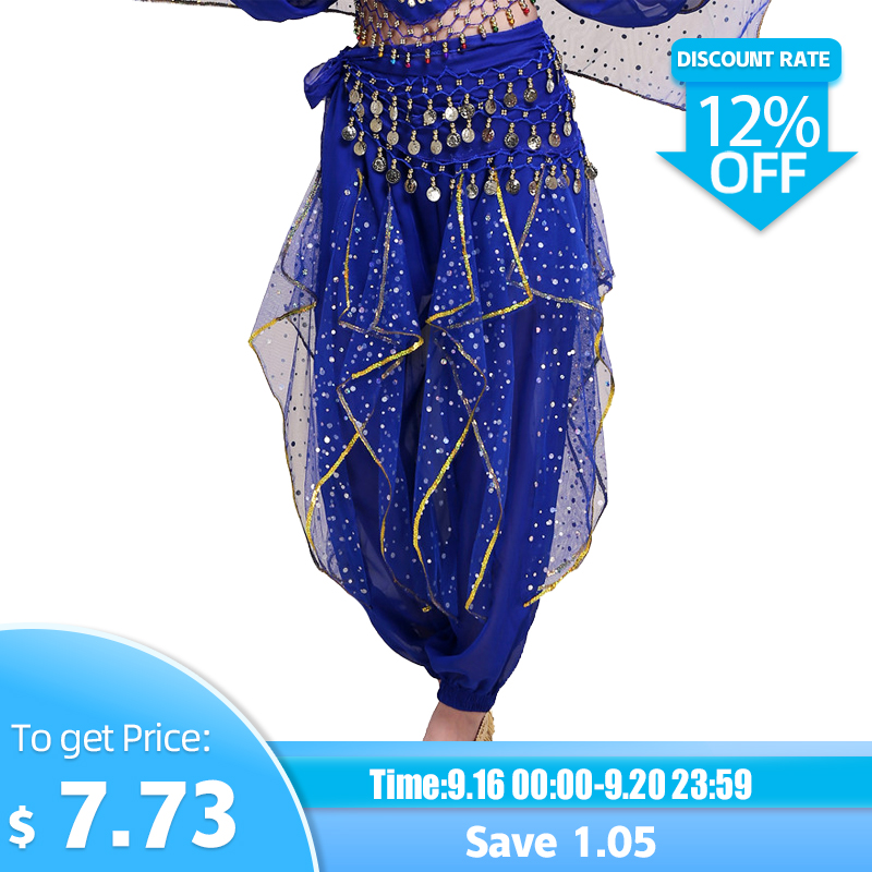 2018 Women Clothing Veil Belly Dance Trousers Tribal Pants Indian Dance Vientre Dance Clothes Practice Belly Dance Pants