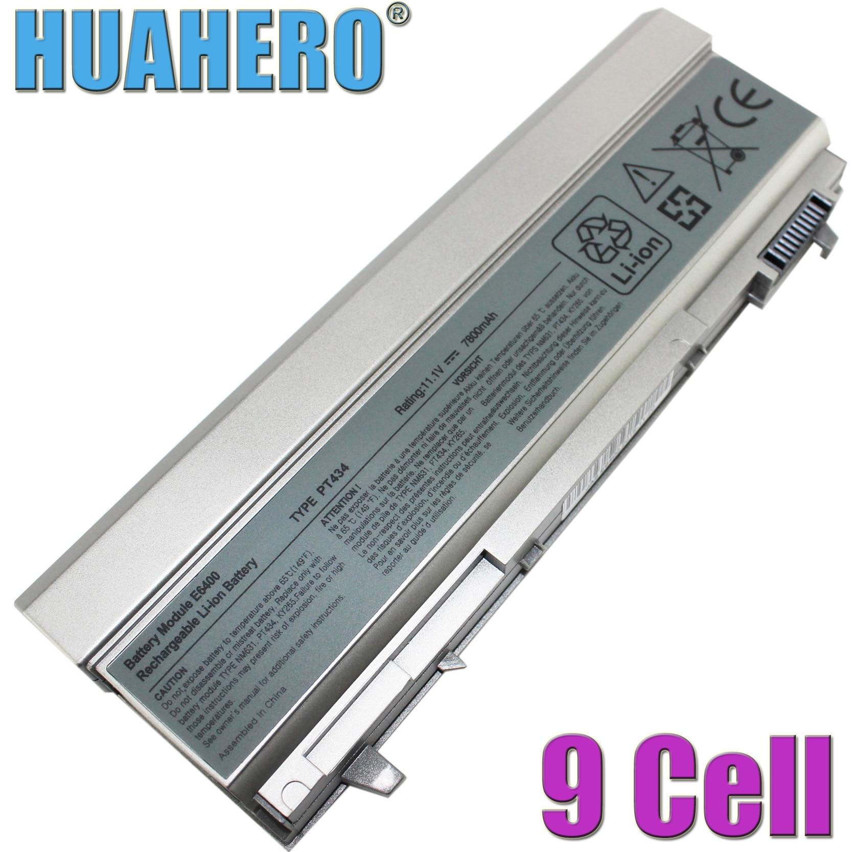 HUAHERO 9 ячеек Аккумулятор для ноутбука Dell Latitude E6400 E6410 E6500 E6510 KY477 PT434 W1193 U844G 312-0748 312-0754 0917 451-10583 FU268