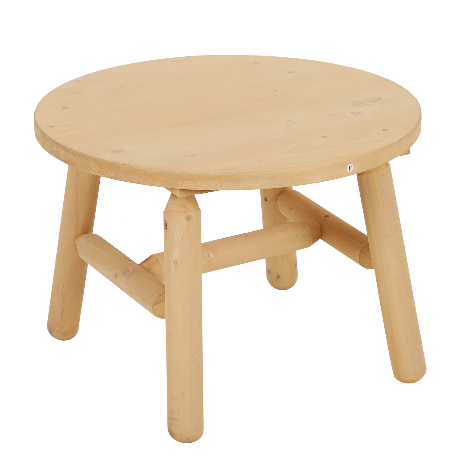 Outsunny Coffee Table Round Coffee Garden Ф63. 5x45 Cm Wood