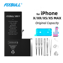 FIXBULL Phone Replacement Battery For Apple iPhone X XR XS MAX iPhoneX iPhoneXR iPhoneXS Max Original Real Capacity Free Tools qianliyao real dried flowers natural beauty handcraft original phone case for iphone 6 6s 7 8 plus x xr xs max sunflower cases
