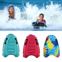 Inflatable Surfboard Summer Swimming Mattress Floating Bed Adult Kid Toy Outdoor Inflatable Surfboard Solid Color Buoy Kickboard